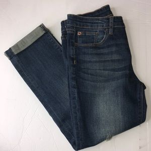 Hudson Kids distressed cuffed jeans size 12